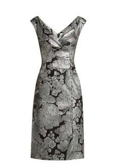 Erdem Jyoti floral jacquard midi dress