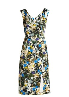 Erdem Jyoti Mariko Meadow-jacquard dress