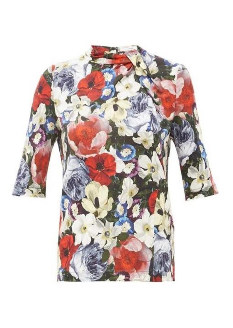 Erdem Kacey poppy-print blouse