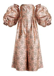 Erdem Kaelyn balloon-sleeve floral-brocade gown