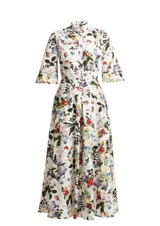 Erdem Kaiya Edith-print cotton-poplin midi dress