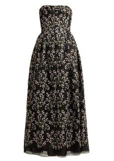 Erdem Karenna Deep Sea-embroidered organza gown