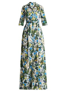 Erdem Karissa floral print cotton poplin shirtdress