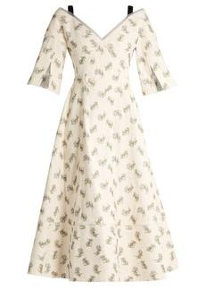 Erdem Karol Ottoman cotton-blend dress