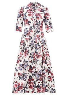 Erdem Kasia floral-print cotton-poplin shirtdress