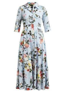 Erdem Kasia Isabelle-print cotton poplin dress