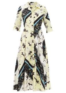Erdem Kasia Rosemont-Willow print cotton shirt dress