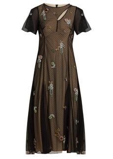 Erdem Kathryn crystal-appliqué tulle dress