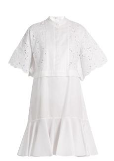Erdem Kathy half-placket broderie-anglaise dress