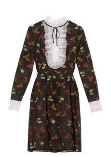 Erdem Katy fil coupé silk dress