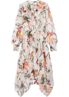 Erdem Kaylah asymmetric printed silk-voile dress