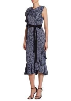 Erdem Kaylee Floral Midi Dress