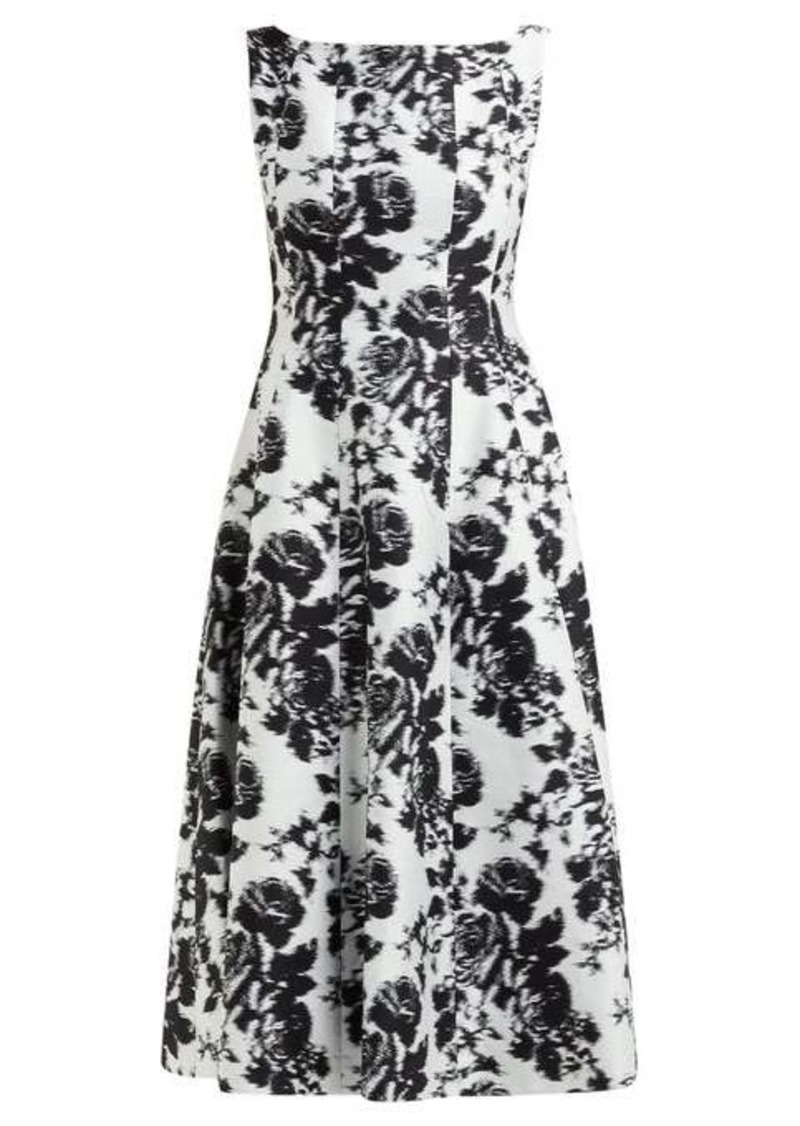 Erdem Kinsey Rosechine-jacquard cotton-blend midi dress