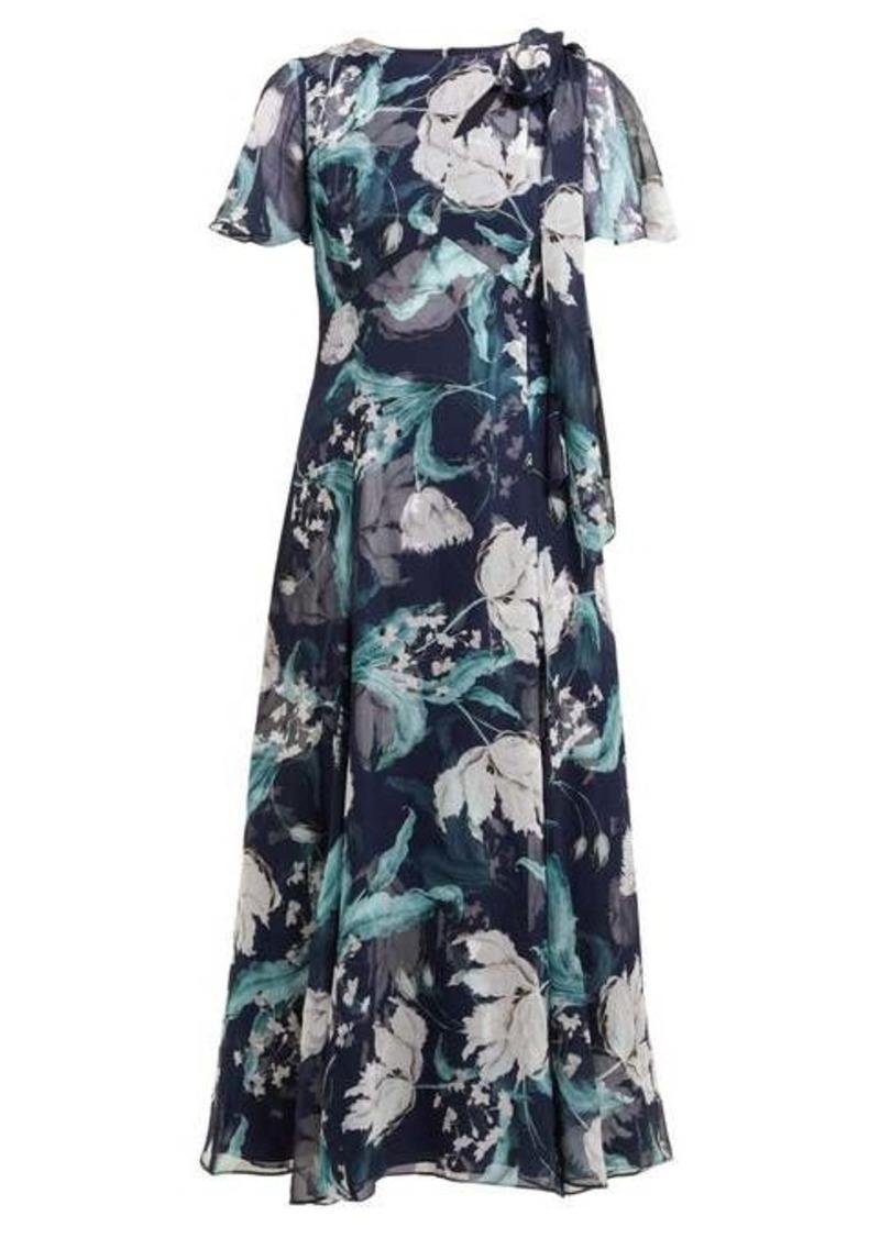 Erdem Kirstie floral-print silk-chiffon midi dress