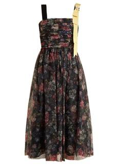 Erdem Koni Elizabeth Garden-print tulle dress