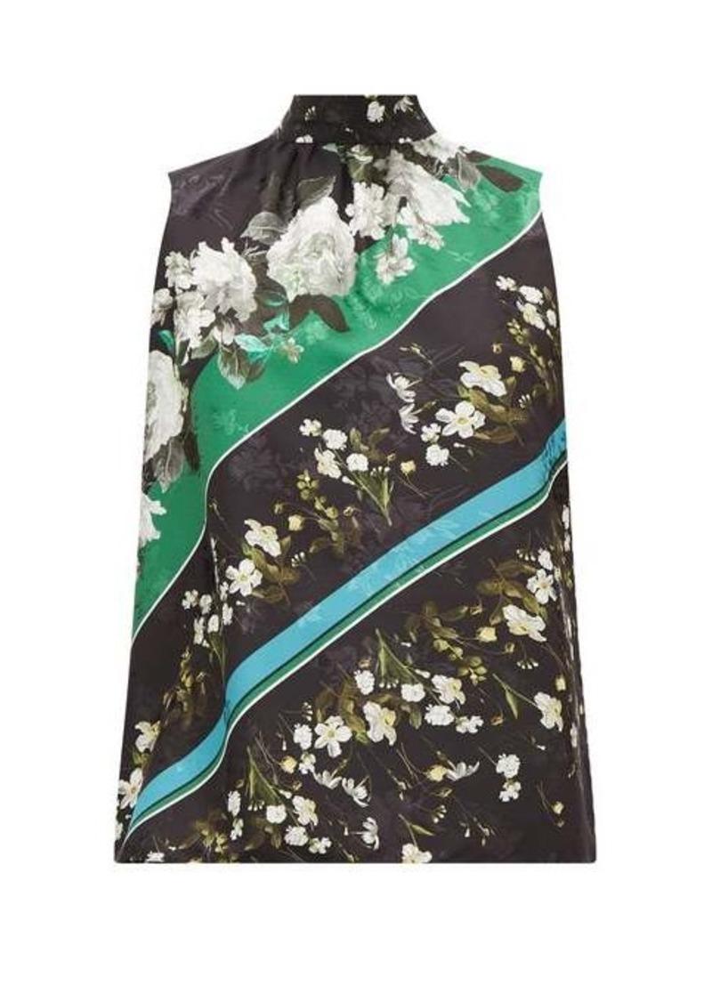 Erdem Koren Daffodil Ditsy-print floral-jacquard blouse