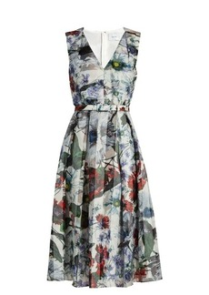 Erdem Kuni Yuki Garden-print organza dress