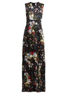 Erdem Lillian Edith-print silk gown