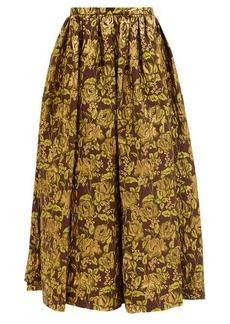 Erdem Lindie floral-brocade maxi skirt