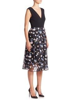Erdem Loren Silk Combo Dress