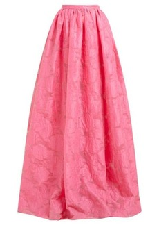Erdem Lydell floral damask maxi skirt