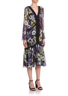Erdem Makayla Floral Midi Dress