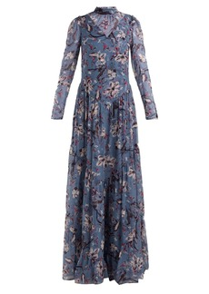 Erdem Marcia Tulip Dream-print silk gown