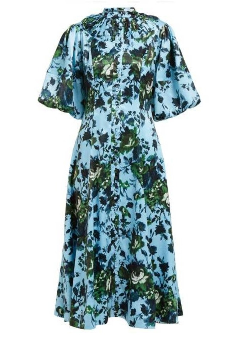 Erdem Margo floral-print button-down dress