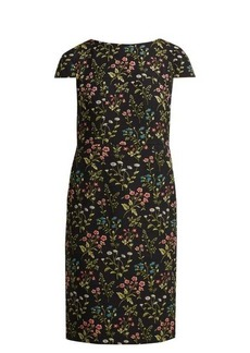 Erdem Marion floral-jacquard cotton-blend dress