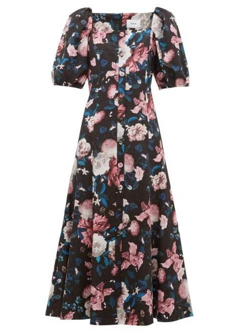 Erdem Mariona floral-jacquard cotton-blend midi dress
