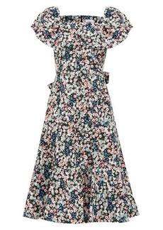 Erdem Maudie Meadow Park-print cotton midi dress
