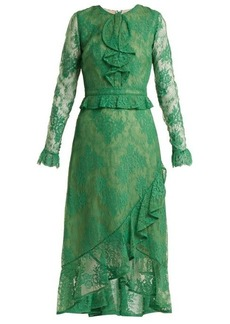 Erdem Meg ruffle-trimmed lace dress