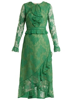 Erdem Meg ruffle-trimmed lace dress