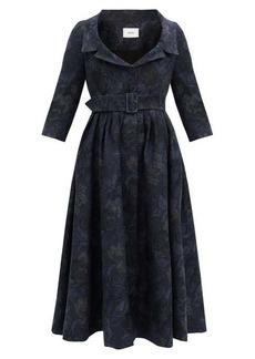 Erdem Meril cotton-blend floral-jacquard midi dress