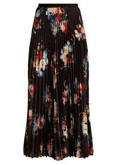 Erdem Nesrine floral-print pleated skirt