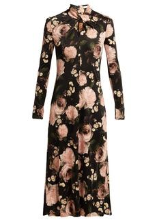 Erdem Nolene Dutch Petal-print jersey midi dress