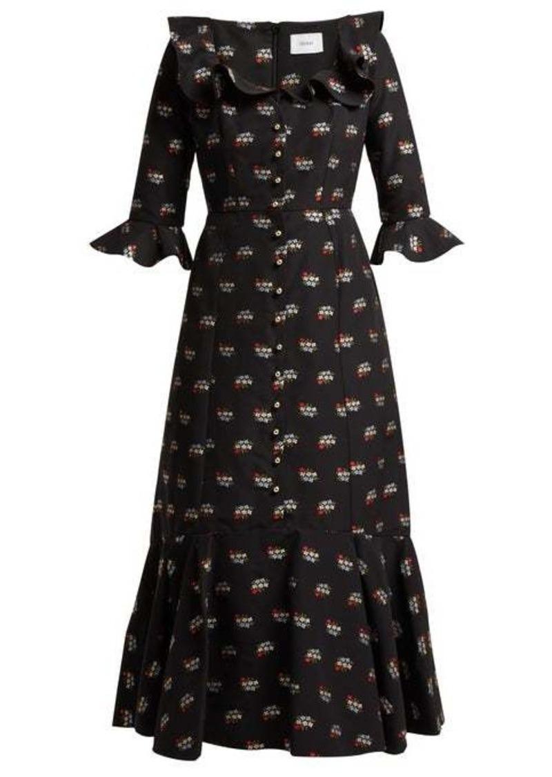 Erdem Opaline Ottman fil-coupé coton-blend midi dress