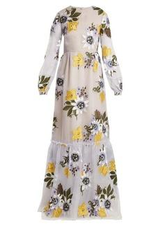 Erdem Ora floral-embroidered silk-organza gown