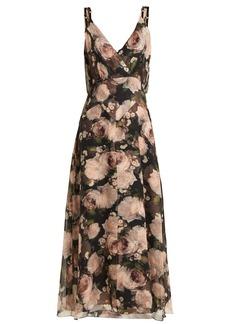 Erdem Orabella Dutch Petal-print silk voile dress