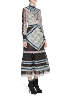 Erdem Oriana Long-Sleeve Midi Dress