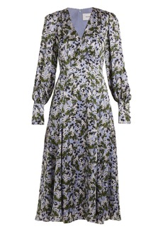 Erdem Osiris V-neck silk-satin dress