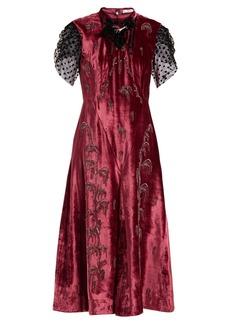 Erdem Pembroke crystal-embellished velvet dress