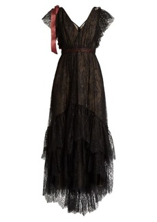 Erdem Perry embellished floral-embroidered tulle gown