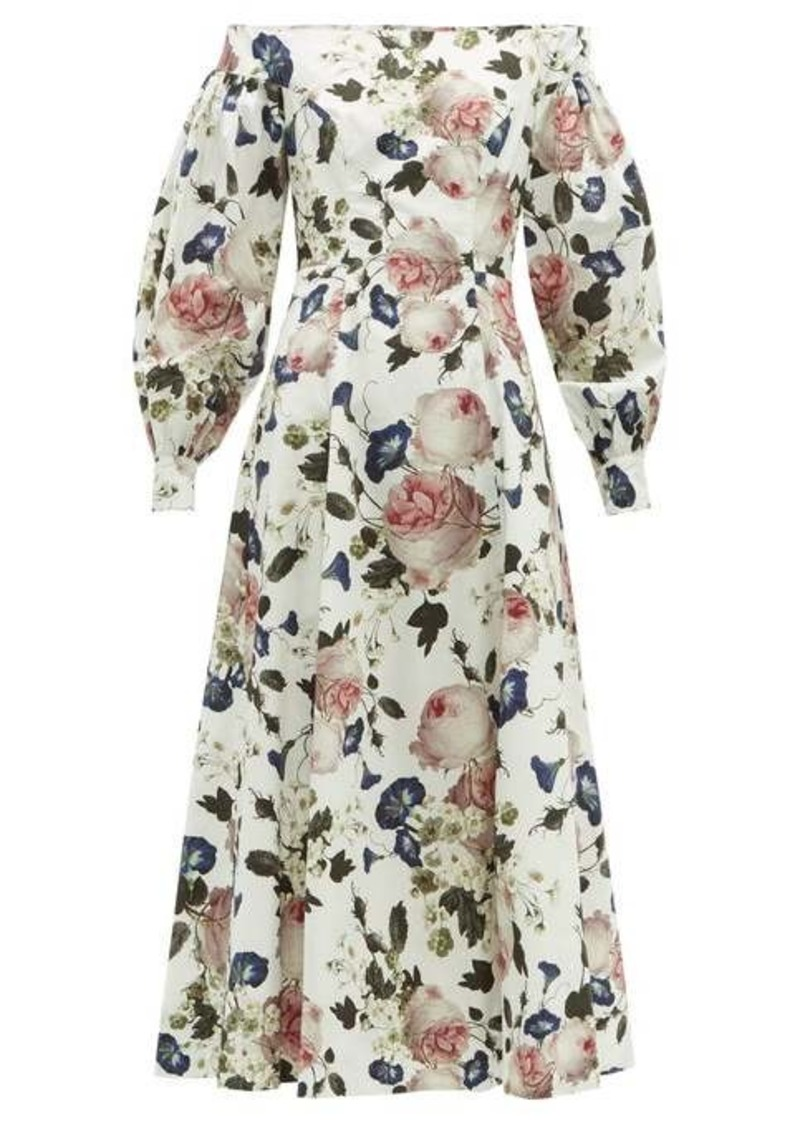 Erdem Polina Apsley-print off-the-shoulder cotton dress
