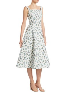 Erdem Polly A-Line Midi Dress