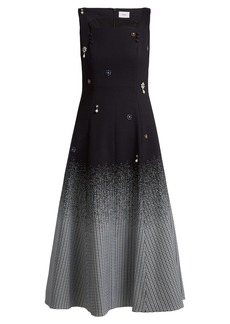 Erdem Polly crystal-embellished cotton-blend dress