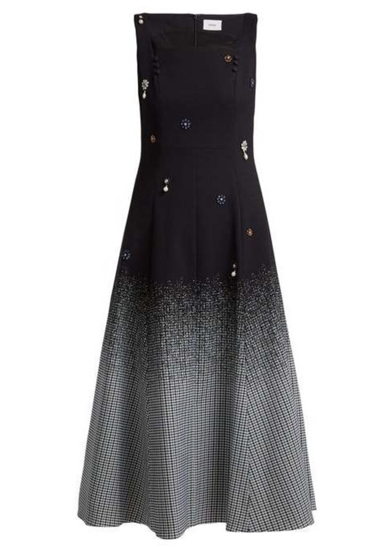 Erdem Polly crystal-embellished cotton-blend dress