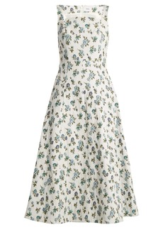Erdem Polly floral-jacquard dress