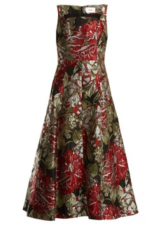 Erdem Polly flower-jacquard dress
