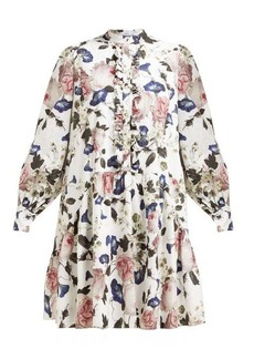 Erdem Quentin Apsley floral-print ruffled dress